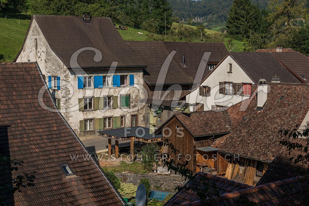 Posamenterhaus, Reigoldswil (BL) | Ehemaliges Posamenterhaus, im Vordergrund die Säge, Reigoldswil im Kanton Baselland.