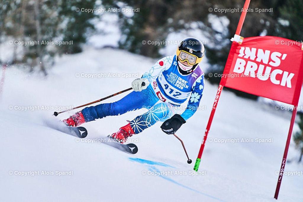 ALS5751_WWMG_GS-II_C | (C) FotoLois.com, Alois Spandl, WinterWorldMastersGames 2020 Innsbruck, Giant Slalom-II Gruppe C Damen, Patscherkofel Olympiaabfahrt, Mi 15. Jänner 2020.