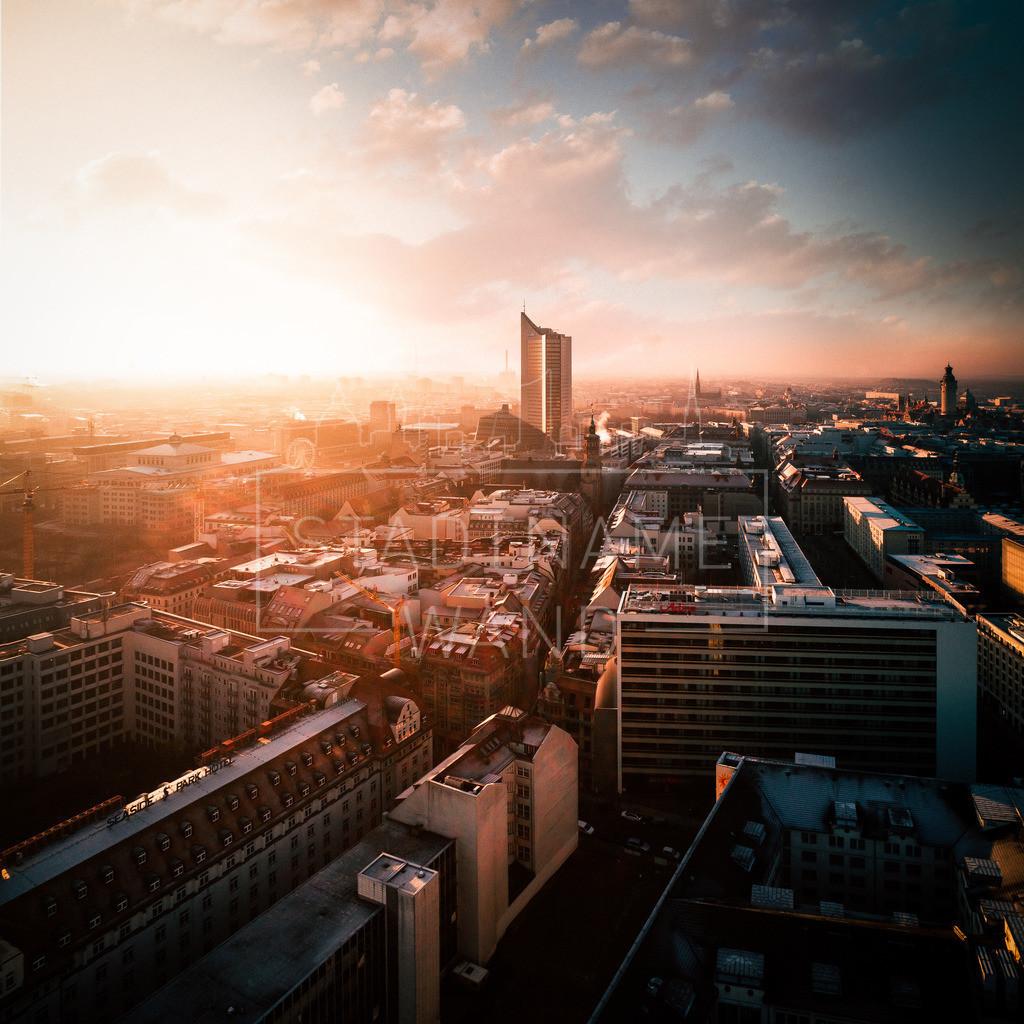 Abendsonne über Leipzig