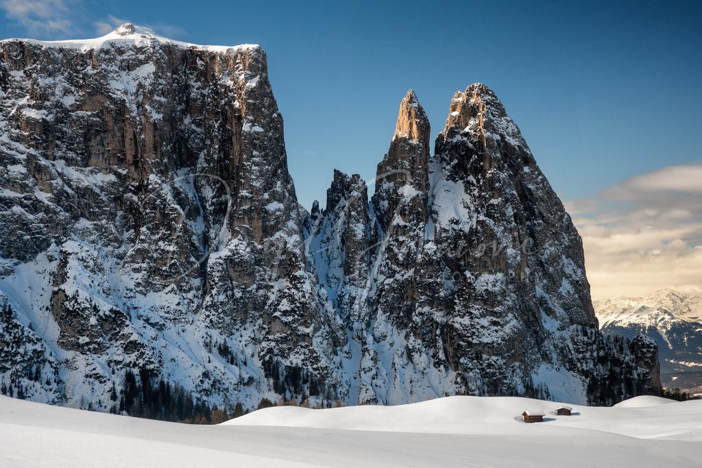 Seiser Alm / Alpe di Siusi | Winter auf der Seiser Alm mit Blick zum Schlern