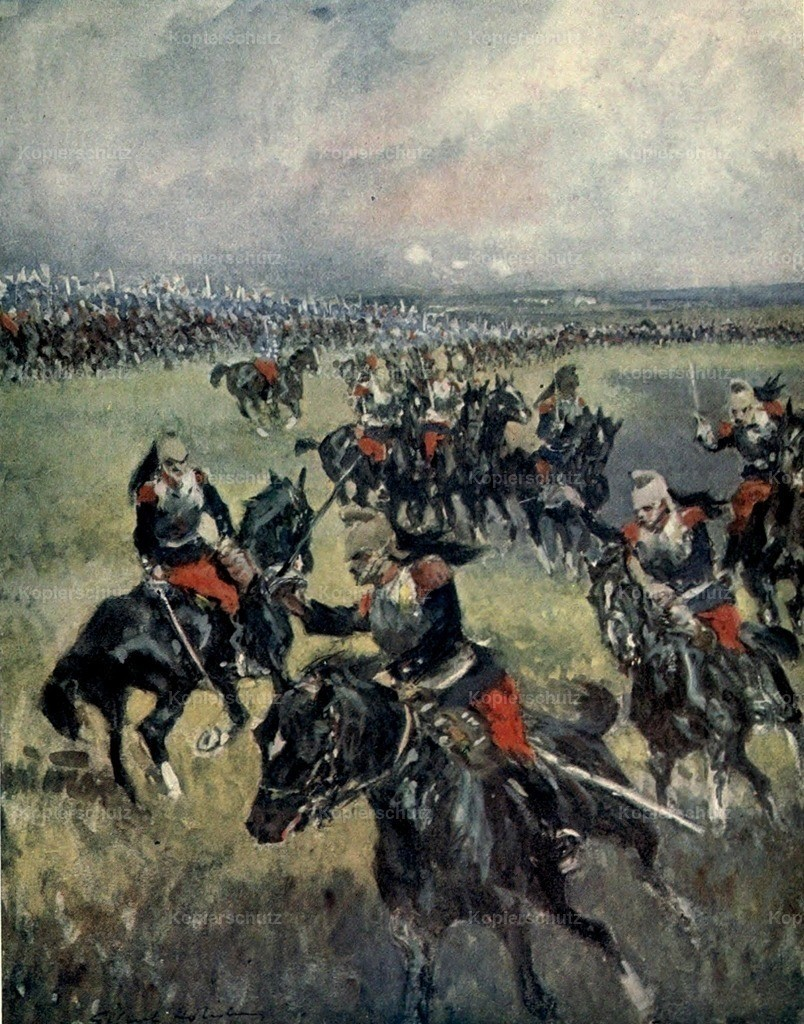 Holiday_ G. (1879-1937) - 2nd Phase of the Great War 1915 - French dragoons drilling