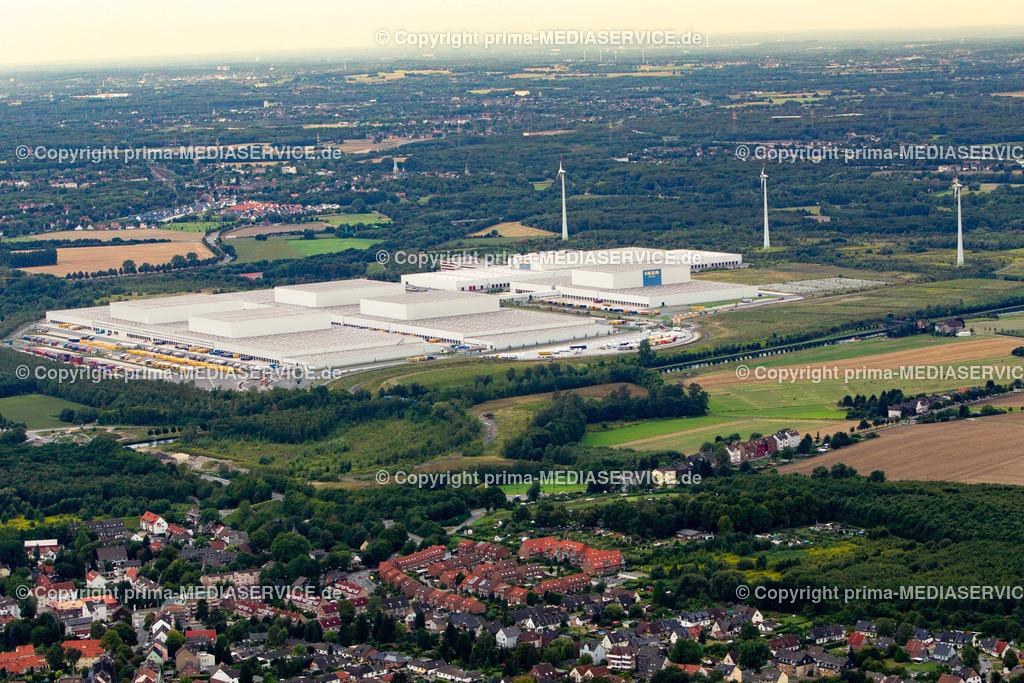 2012-08-28 Fotoflug Dortmund | Luftbildflug Dienstag, 28. August 2012 Deutschland, Nordrhein-Westfalen, Dortmund, Kemminghausen, IKEA-Lager. Foto: Michael Printz / PHOTOZEPPELIN.COM