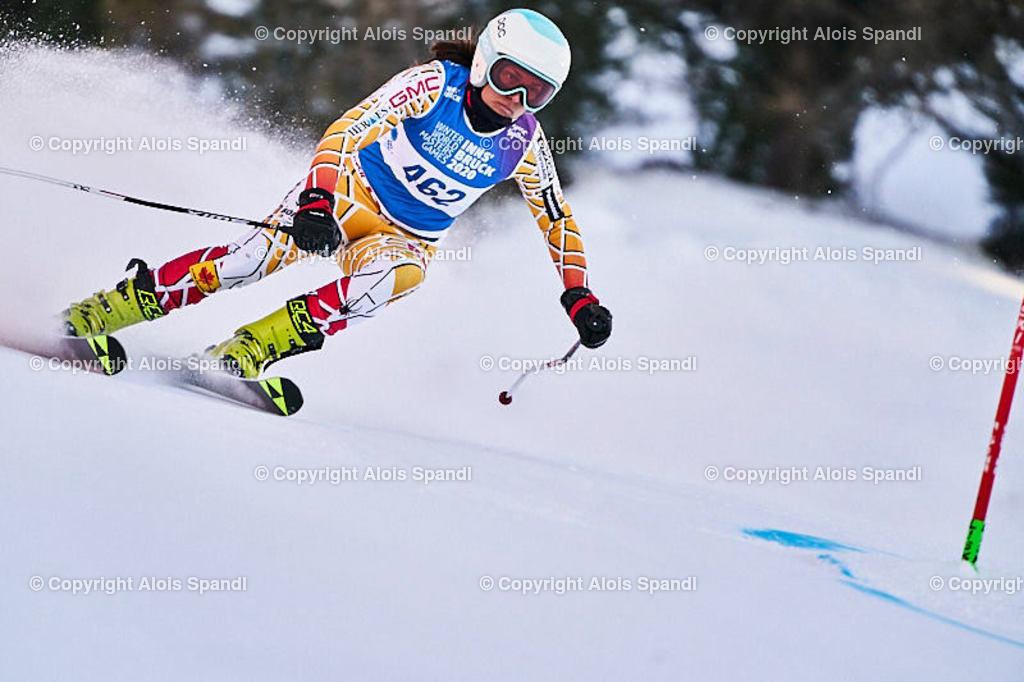 ALS5988_WWMG_GS-II_C | (C) FotoLois.com, Alois Spandl, WinterWorldMastersGames 2020 Innsbruck, Giant Slalom-II Gruppe C Damen, Patscherkofel Olympiaabfahrt, Mi 15. Jänner 2020.