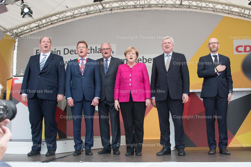 DSC_8029 | Heppenheim, Wahlveranstaltung, CDU, Angela Merkel auf dem parkhof, ,, Bild: Thomas Neu