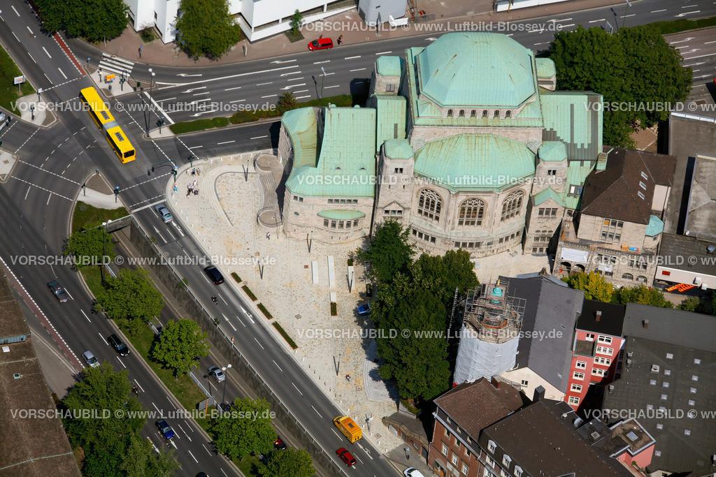 ES10080377 | Synagoge Essen ohne Bauzaeune,  Essen, Ruhrgebiet, Nordrhein-Westfalen, Germany, Europa, Foto: hans@blossey.eu, 14.08.2010