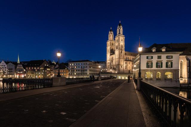 Zürich, Blick auf Grossmünster