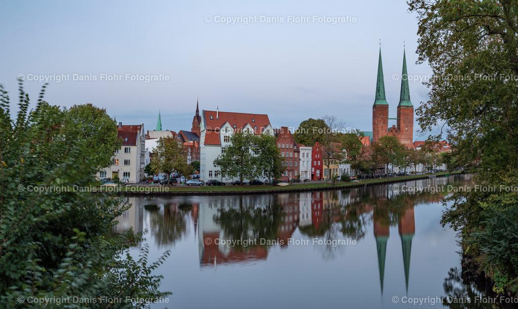 Malerwinkel und Dom | Ein Blick auf den Lübecker Malerwinkel und den Lübecker Dom.