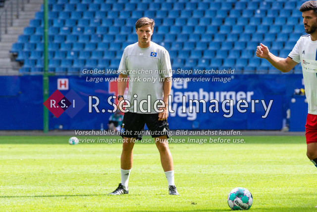 Fußball, Herren, Testspiel, Hamburger SV - FC Hansa Rostock, Volksparkstadion, 09.08.2020 | Merlin Polzin (HSV Co-Trainer)