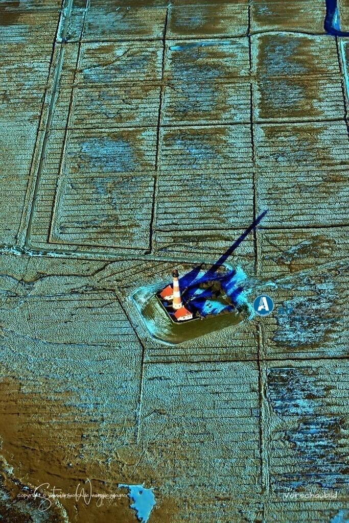 Winter Luftbilder, Nordsee, Nordfriesland, Eiderstedt, Westerhever, Leuchtturm | Winter Luftbilder, Nordsee, Nordfriesland, Eiderstedt, Westerhever, Leuchtturm