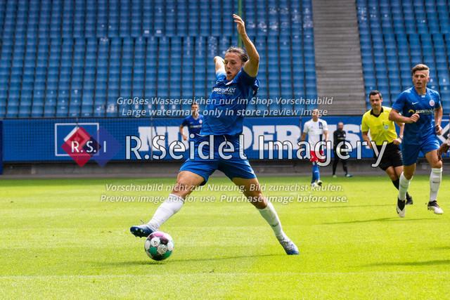 Fußball, Herren, Testspiel, Hamburger SV - FC Hansa Rostock, Volksparkstadion, 09.08.2020 | Gian-Luca Schulz (#17 Hansa Rostock)