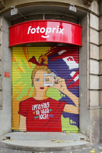 Grafik an einer Hausfassade   ESP, Spanien, Barcelona, 18.01.2018, Grafik an einer Hausfassade [2018 Jahr Christoph Hermann]