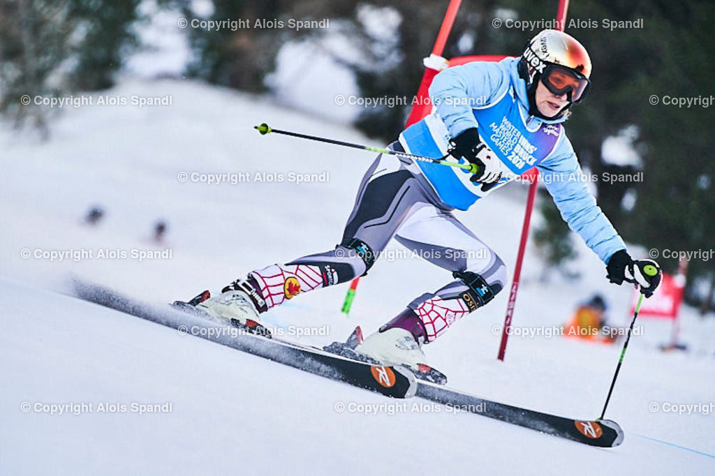 ALS5495_WWMG_GS-II_C | (C) FotoLois.com, Alois Spandl, WinterWorldMastersGames 2020 Innsbruck, Giant Slalom-II Gruppe C Damen, Patscherkofel Olympiaabfahrt, Mi 15. Jänner 2020.