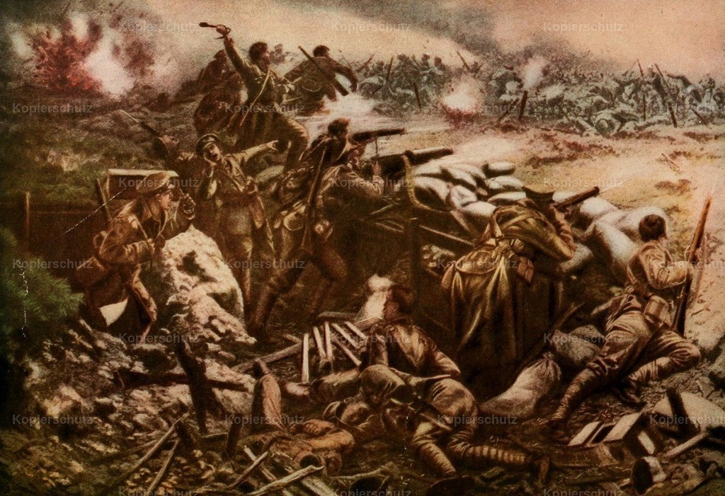 Wollen_ W.B. (1875-1936) - The Nations at War 1915 - Canadian in fierce fight at Ypres