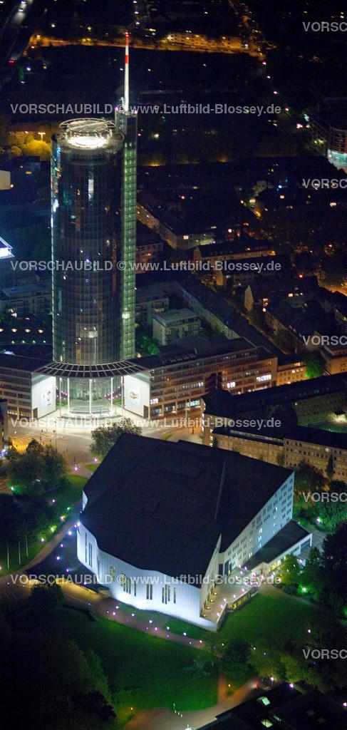 ES10052591 | Philharmonie, Aalto Theater und RWE-Hochhaus bei Nacht,  Essen, Ruhrgebiet, Nordrhein-Westfalen, Germany, Europa, Foto: hans@blossey.eu, 14.05.2010