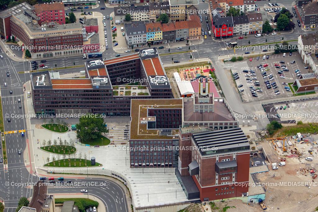 2012-08-28 Fotoflug Dortmund | Luftbildflug Dienstag, 28. August 2012 Deutschland, Nordrhein-Westfalen, Dortmund, Dortmund.  Dortmunder U-Turm mit Spiegelzelt. Foto: Michael Printz / PHOTOZEPPELIN.COM
