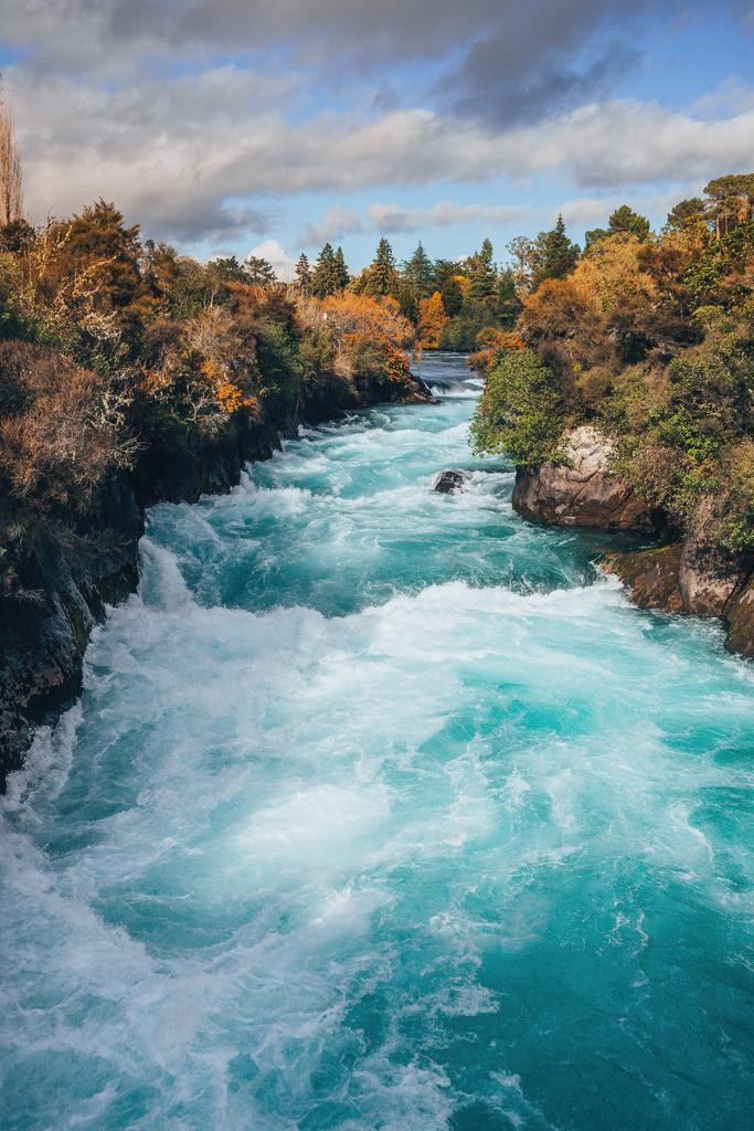 Huka Wasserfälle bei Taupo in Neuseeland | Huka Wasserfälle bei Taupo in Neuseeland