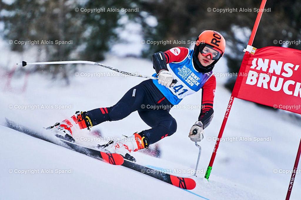 ALS5882_WWMG_GS-II_C | (C) FotoLois.com, Alois Spandl, WinterWorldMastersGames 2020 Innsbruck, Giant Slalom-II Gruppe C Damen, Patscherkofel Olympiaabfahrt, Mi 15. Jänner 2020.
