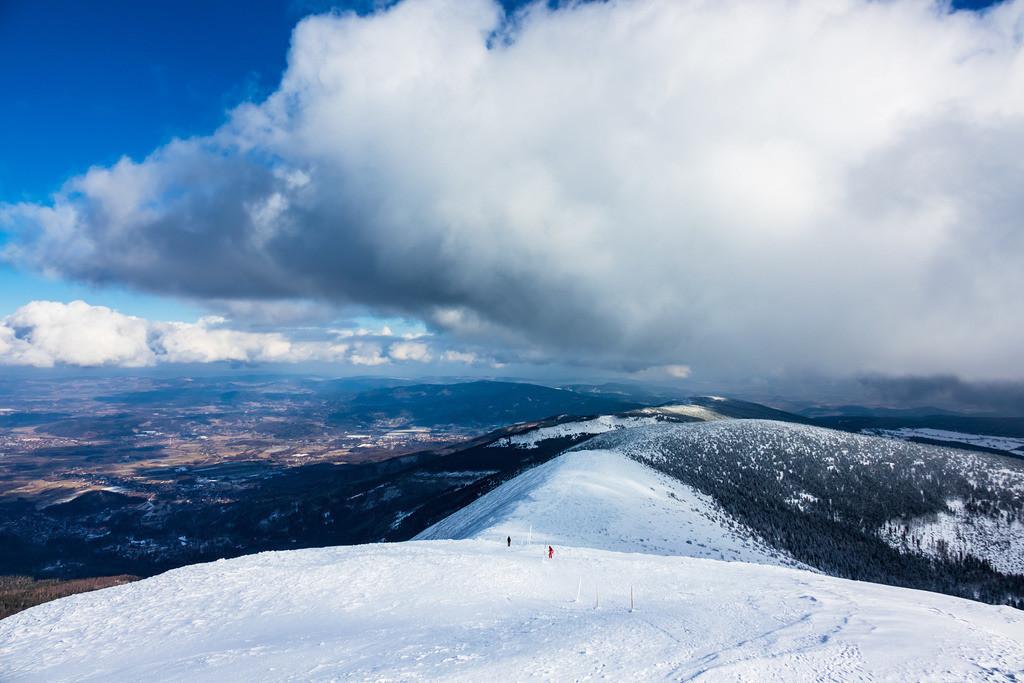Blick von der Schneekoppe im Riesengebirge in Tschechien | Blick von der Schneekoppe im Riesengebirge in Tschechien.