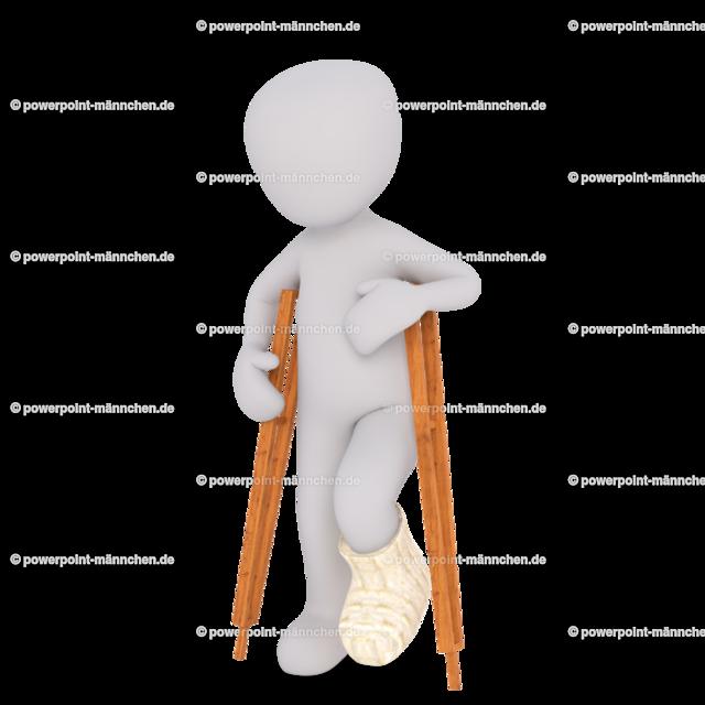walk on crutches | Quelle: https://3dman.eu   Jetzt 250 Bilder kostenlos sichern