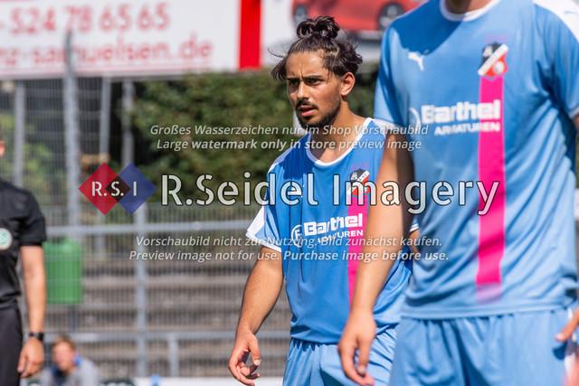 Fußball, Herren, LOTTO-Pokal Halbfinale, FC Eintracht Norderstedt - Altona 93, Edmund-Plambeck-Stadion, 16.08.2020   Emre Cem Töremis (#15, AFC, Hängende Spitze)