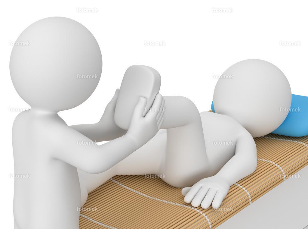 3d Männchen physiotherapeut   weisses 3D Männchen von Fotomek