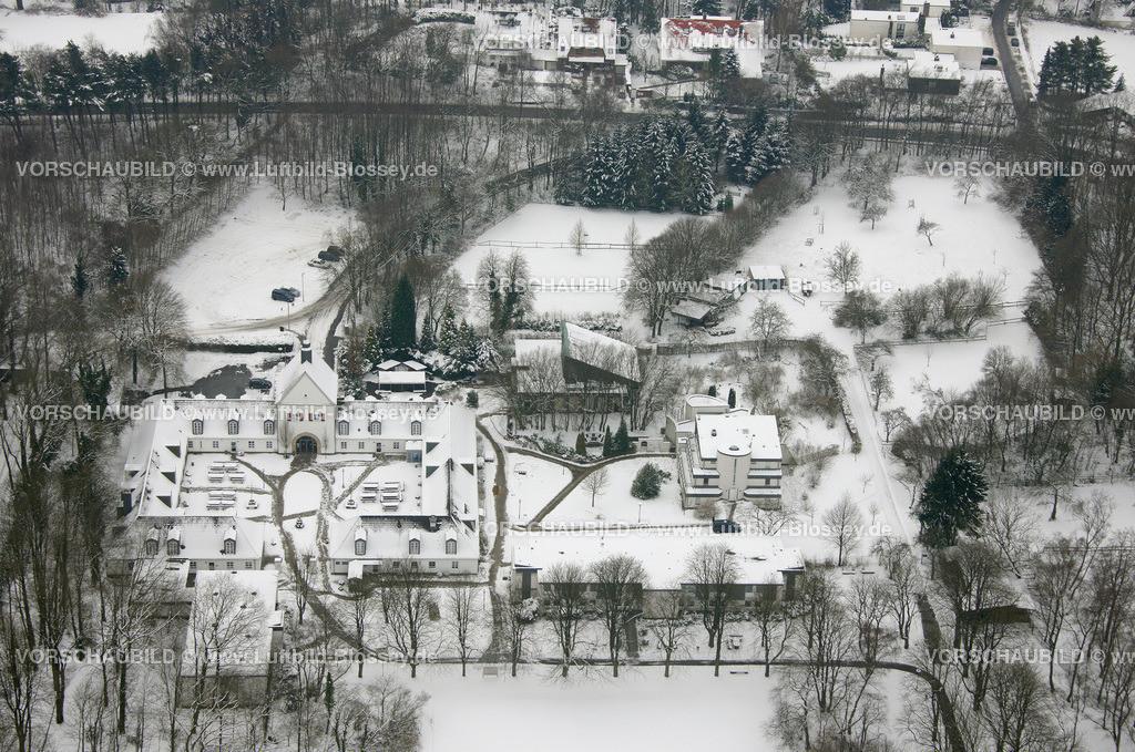 KT10011133 | Schnee,  Kettwig, Essen, Ruhrgebiet, Nordrhein-Westfalen, Deutschland, Europa, Foto: Luftbild Hans Blossey, Copyright: hans@blossey.eu, 06.01.2010, E 006° 56' 30.53