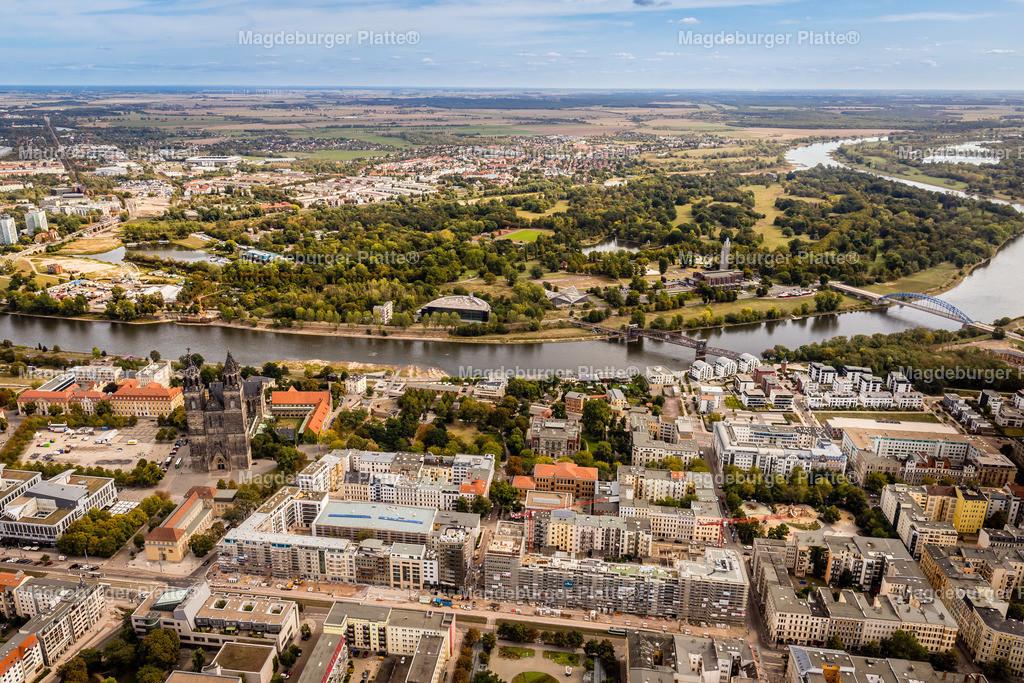 Magdeburg September Gyrokopter-9612 | Luftbilder aus der Vogelperspektive von MAGDEBURG ... mit Drohne oder von oben fotografiert für die Bilddatenbank der Luftbildfotografie von Sachsen - Anhalt.