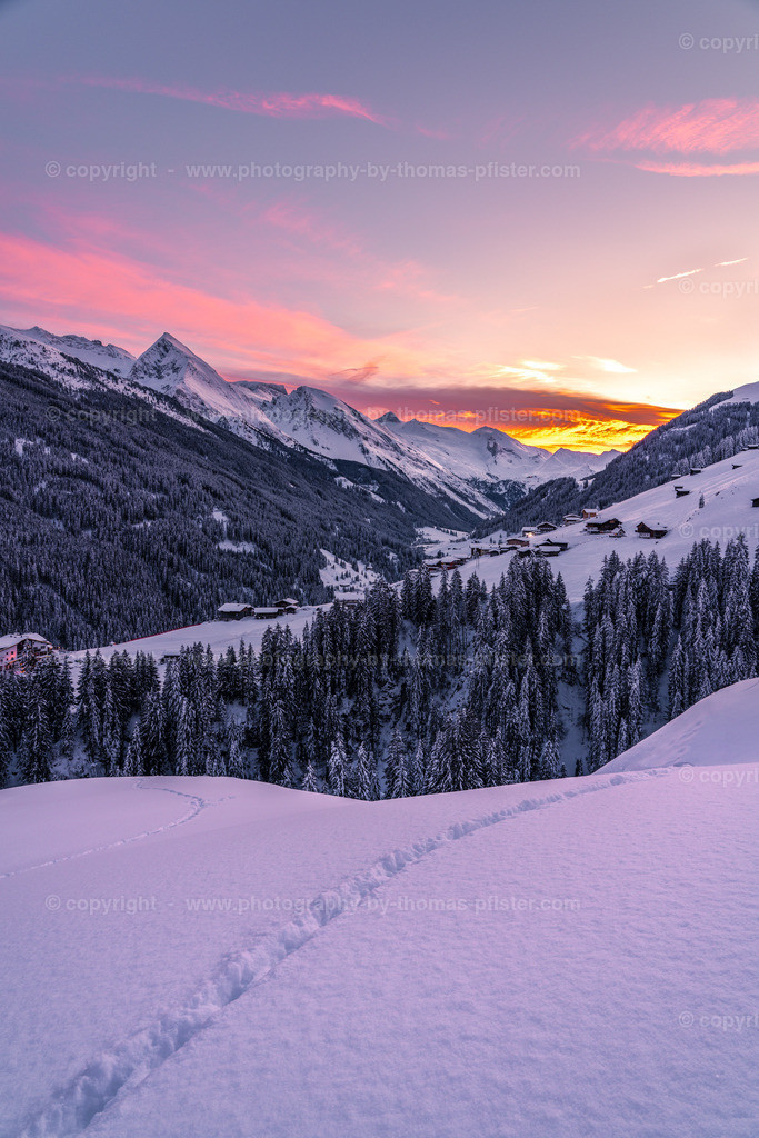 Sonnenuntergang Tux Vorderlanersbach-1