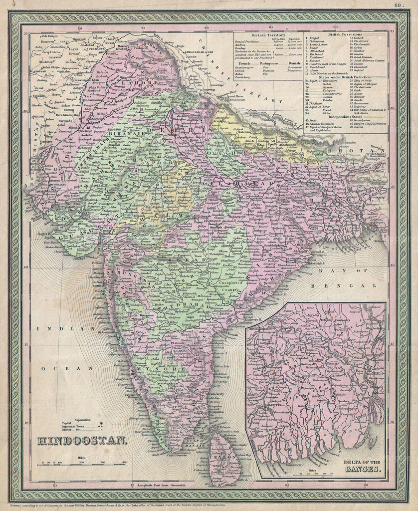 1853_Mitchell_Map_of_India