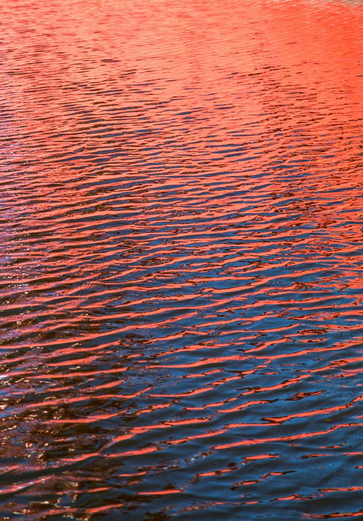 JT-150312-211   Wasser reflektiert eine rote Fläche