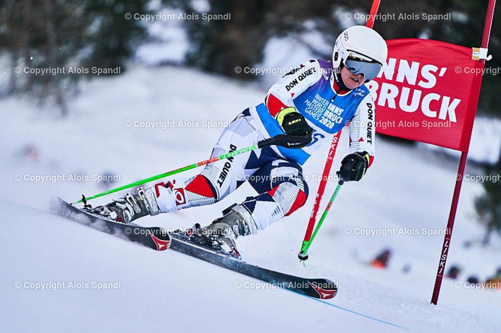 ALS5964_WWMG_GS-II_C | (C) FotoLois.com, Alois Spandl, WinterWorldMastersGames 2020 Innsbruck, Giant Slalom-II Gruppe C Damen, Patscherkofel Olympiaabfahrt, Mi 15. Jänner 2020.