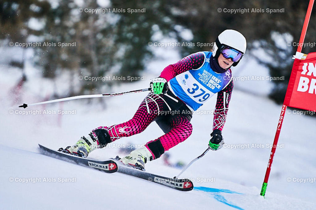 ALS5578_WWMG_GS-II_C | (C) FotoLois.com, Alois Spandl, WinterWorldMastersGames 2020 Innsbruck, Giant Slalom-II Gruppe C Damen, Patscherkofel Olympiaabfahrt, Mi 15. Jänner 2020.