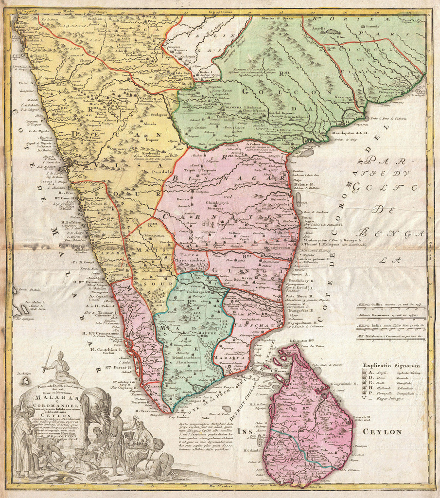 1733_Homann_Heirs_Map_of_India