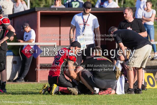 American Football Rückspiel, Verbandsliga Nord, Lüneburg Razorbacks vs. Schwarzenbek Wolves, Lüneburg, 22.09.2019