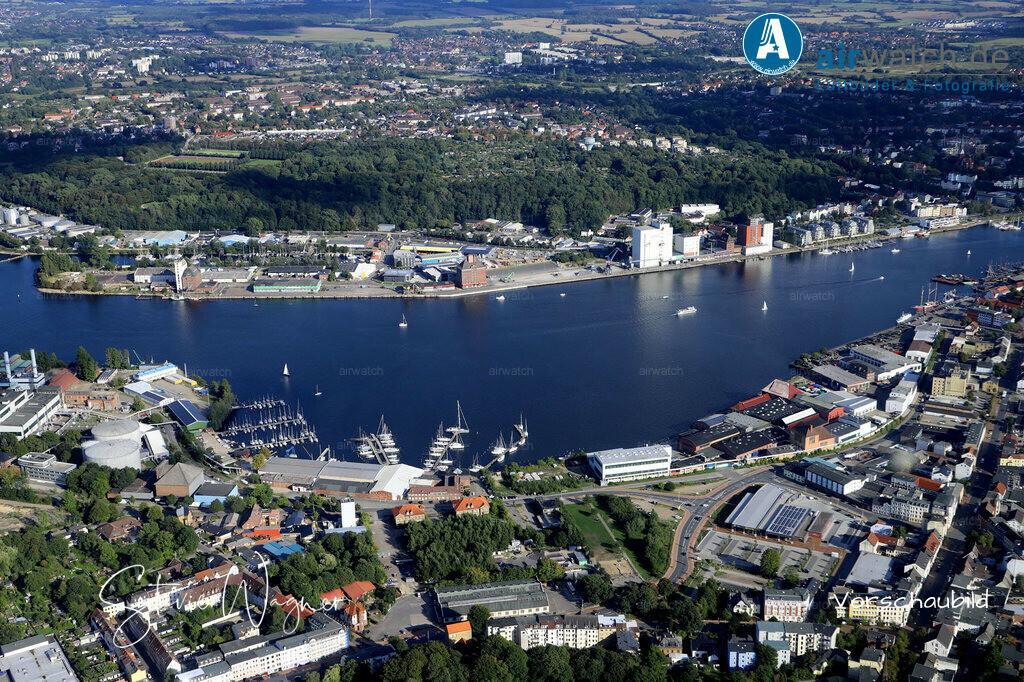 Luftbild Flensburger Foerde, Flensburg Werftstrasse, Binnenhafen   Flensburger Foerde, Flensburg Werftstrasse, Binnenhafen • max. 6240 x 4160 pix