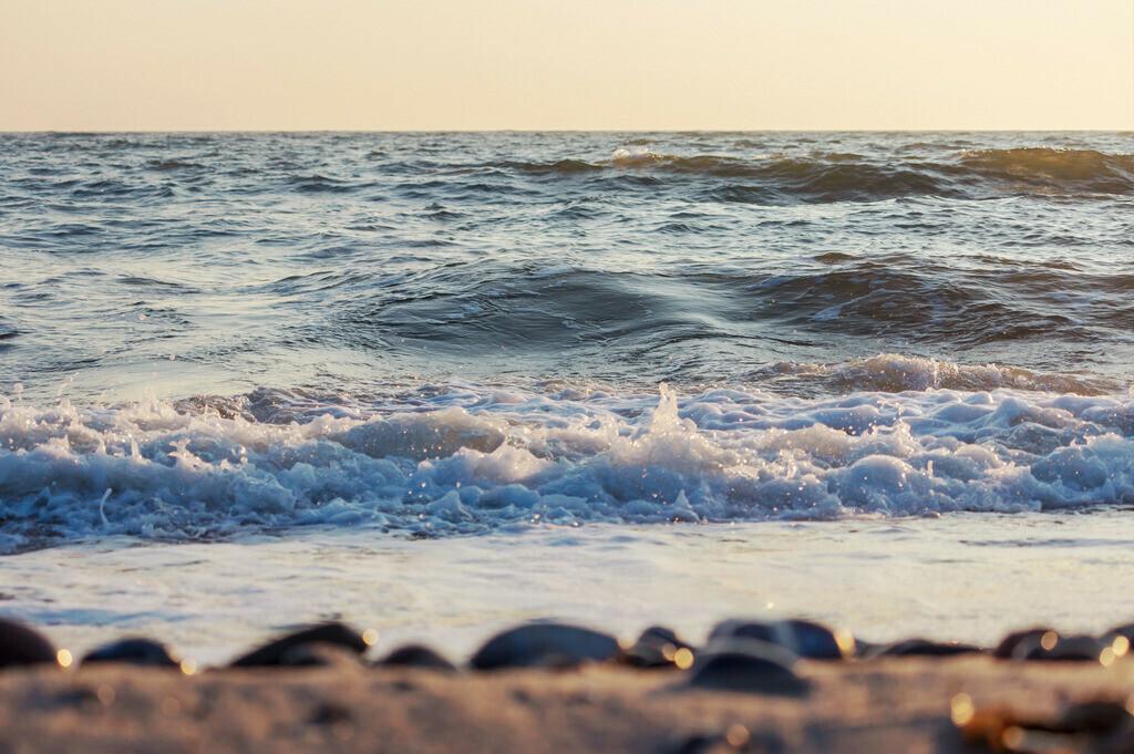 Strand in Damp | Morgenrot am Strand in Damp