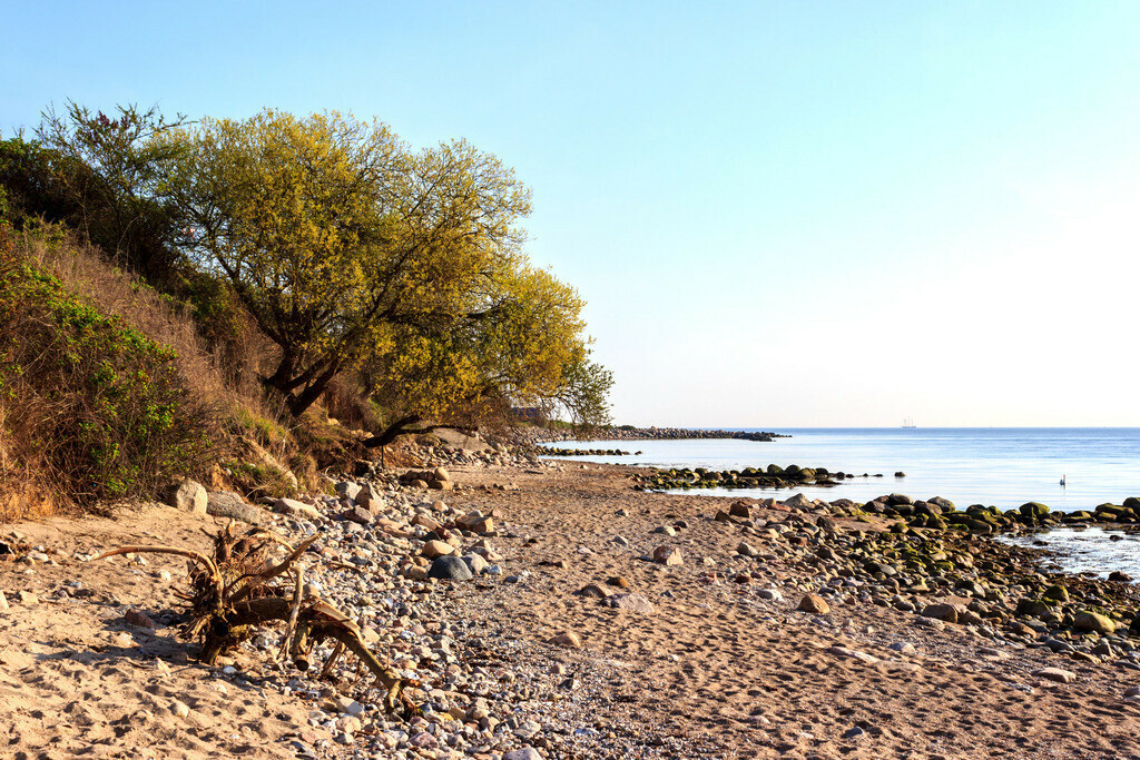 Strand in Kleinwaabs   Naturstrand in Kleinwaabs