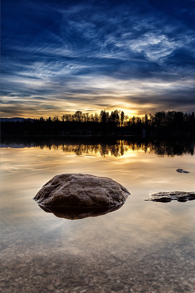 Sonnenuntergang Abtsdorfer See | Sonnenuntergang Abtsdorfer See