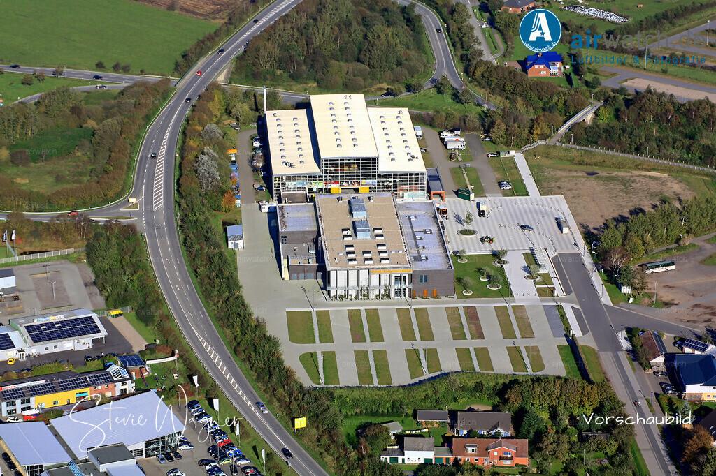 Luftbild Husum, Nordsee, Industriegebiet, Messehalle | Luftbild Husum, Nordsee, Industriegebiet, Messehalle • max. 4272 x 2848 pix.