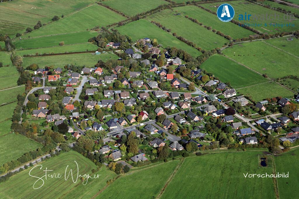 Luftbild Husum Nordsee, Lund, Auweg, Westerheide | Luftbild Husum Nordsee, Lund, Auweg, Westerheide • max. 4272 x 2848 pix.