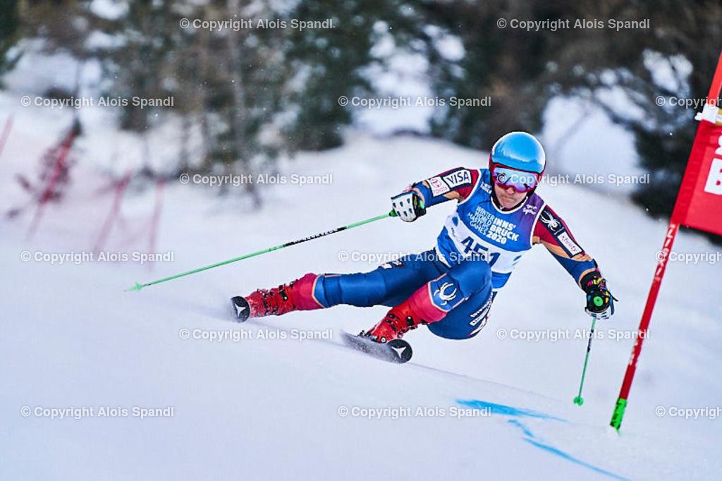 ALS5930_WWMG_GS-II_C | (C) FotoLois.com, Alois Spandl, WinterWorldMastersGames 2020 Innsbruck, Giant Slalom-II Gruppe C Damen, Patscherkofel Olympiaabfahrt, Mi 15. Jänner 2020.