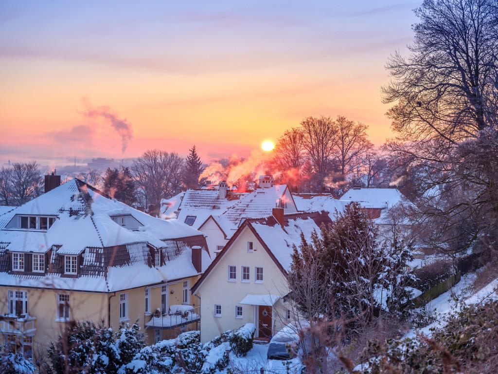 Sonnenaufgang im Winter | Sonnenaufgang über Bielefeld im Februar.