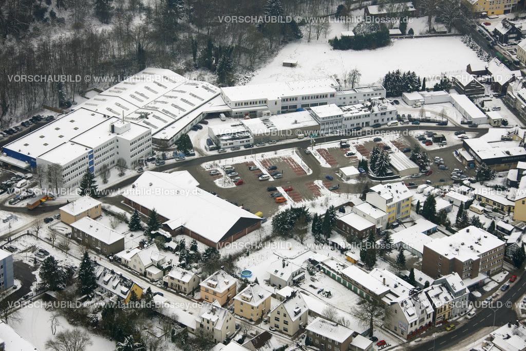 KT10011140 | Schnee,  Kettwig, Essen, Ruhrgebiet, Nordrhein-Westfalen, Deutschland, Europa, Foto: Luftbild Hans Blossey, Copyright: hans@blossey.eu, 06.01.2010, E 006° 56' 30.53