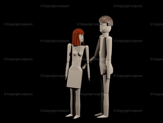 Sexuelle Belästigung | Konzept einer sexuellen Belästigung (3D-Rendering).