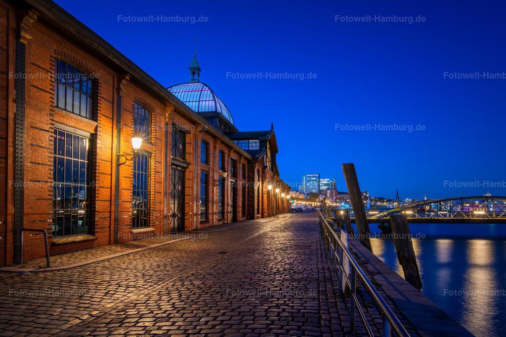 10200214 - Fischauktionshalle Altona | Blaue Lichtstimmung an der Fischauktionshalle in Hamburg Altona.