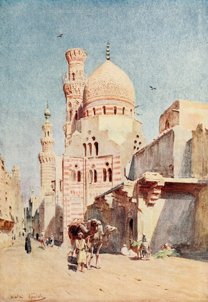 Tyndale_ W. (1855-1943) - Below the Cataracts 1907 - Tomb mosque of Arboughan_ Cairo