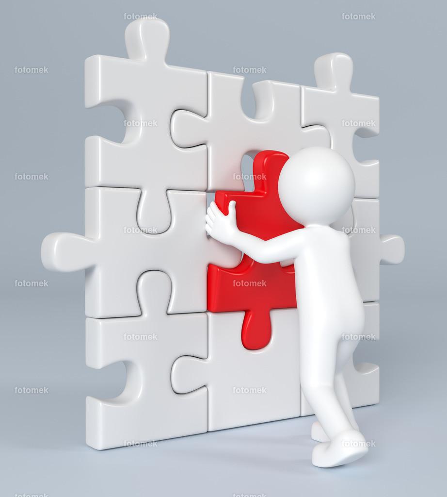 3d Männchen Puzzlewand