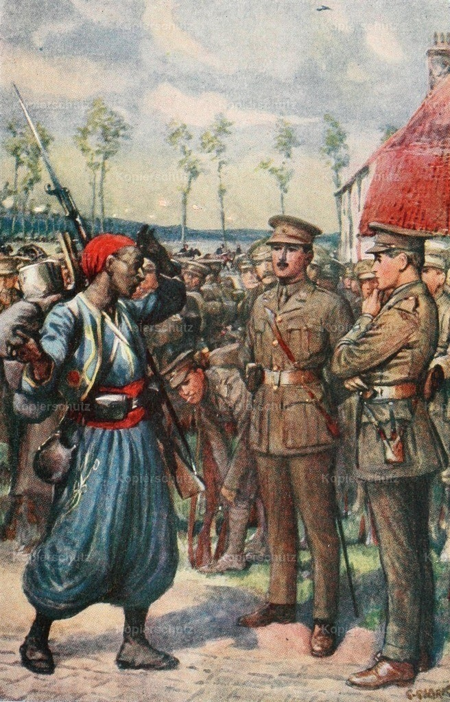 Clark_ C. (1875-1942) - Tales of the Great War 1916 - French Zouave came running