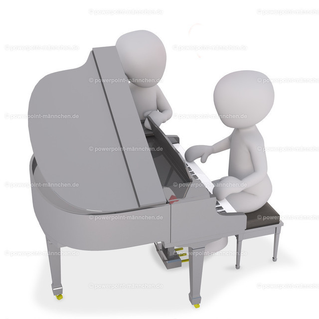 playing piano on a concert