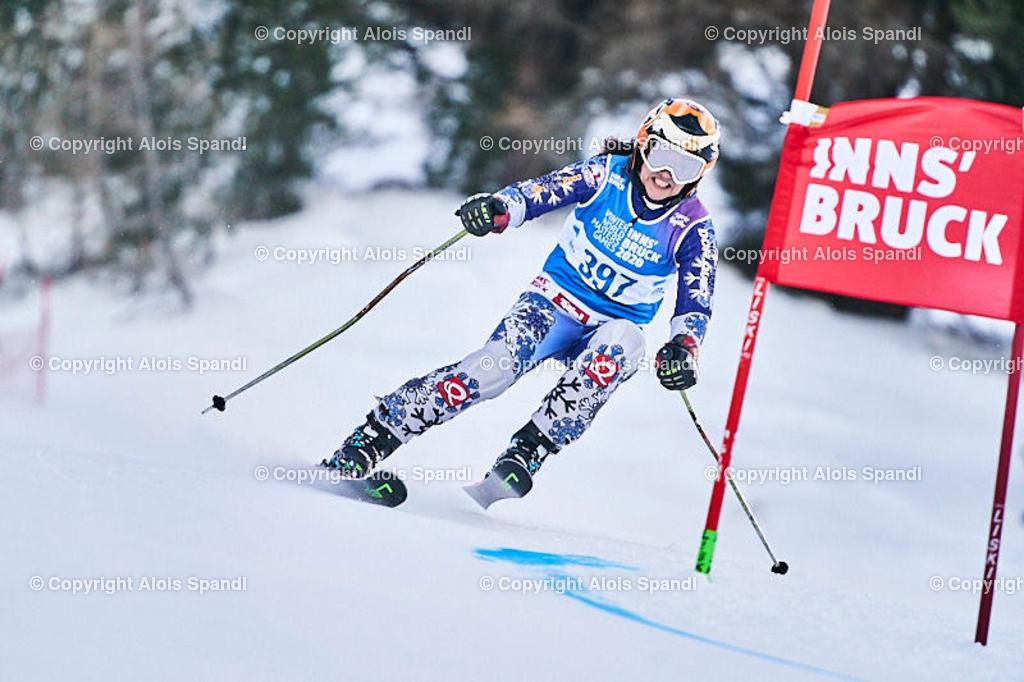 ALS5667_WWMG_GS-II_C | (C) FotoLois.com, Alois Spandl, WinterWorldMastersGames 2020 Innsbruck, Giant Slalom-II Gruppe C Damen, Patscherkofel Olympiaabfahrt, Mi 15. Jänner 2020.